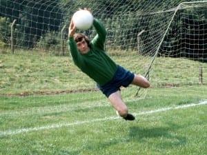 Pat Jennings, goalkeeper of Tottenham Hotspur in training  August 1971. Pic via Mirrorpix.