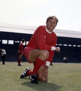 Roger Hunt Liverpool and England footballer. Circa 1968. Pic via Mirrorpix