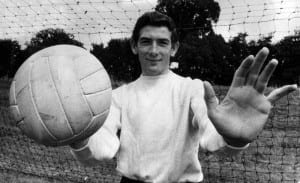 Pat Jennings Football Goalkeeper, August 1964 Jennings is a new signing for Tottenham Hotspur from Watford. Pic via Mirrorpix