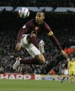 Arsenal V Villarreal UEFA Champions League  Thierry Henry. April 2006. Pic via Mirrorpix.