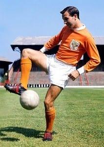 Jimmy Armfield in Blackpool kit.