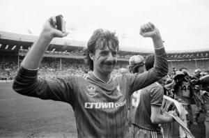 Liverpool 3-1 Everton, FA Cup Final 1986, Wembley Stadium, Saturday 10th May 1986. Post Match Scenes. Mark Lawrenson. Pic courtesy of Mirrorpix
