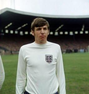 Martin Peters. Scotland v England  April 1970. Pic via Mirrorpix.