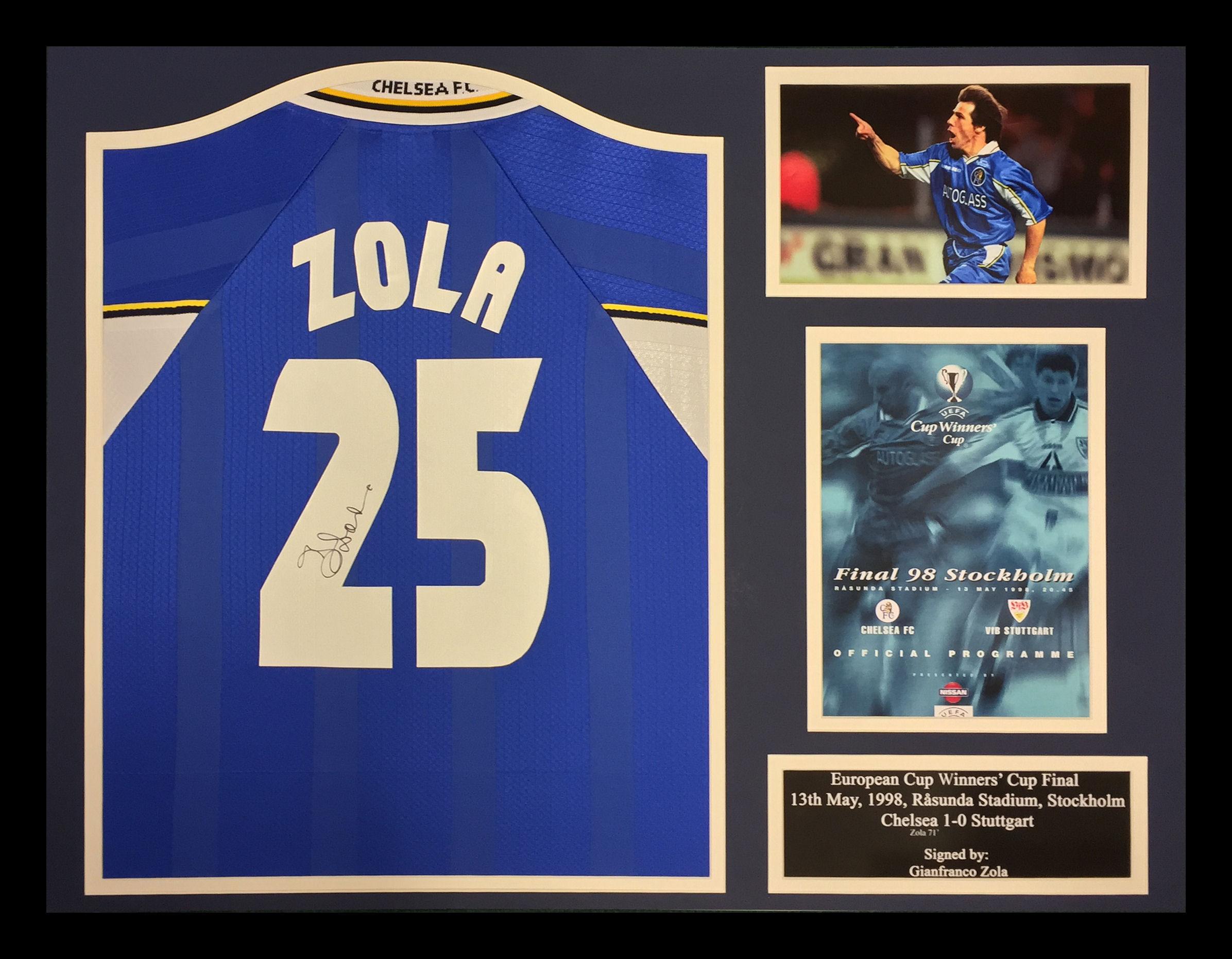 2d3c1576 Zola Signed Chelsea Shirt