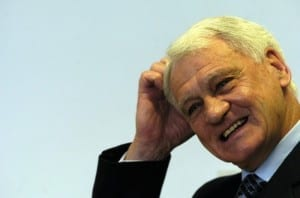 Former England, Ipswich Town and Newcastle United manager Sir Bobby Robson. Pic via Mirrorpix.