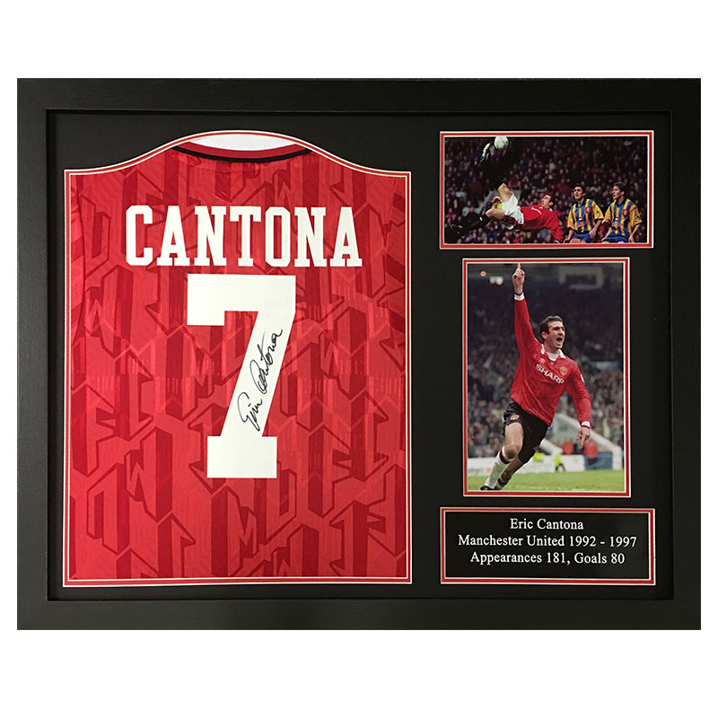 bf07cc302 Cantona Signed Manchester United Shirt