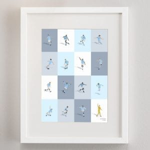 Manchester City's Greatest Players Print