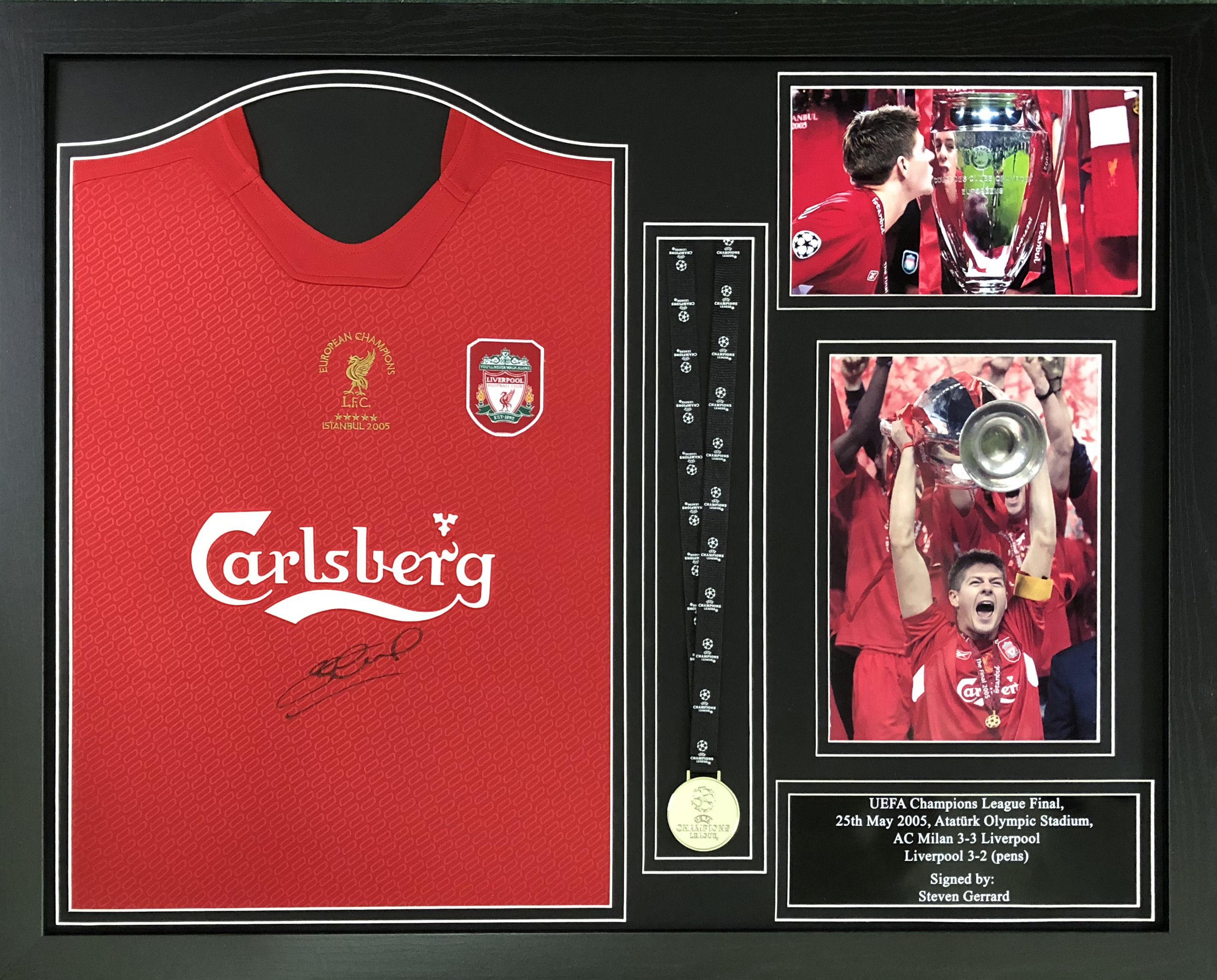 Steven Gerrard Signed Liverpool 2005 Shirt   Medal d22ee9321