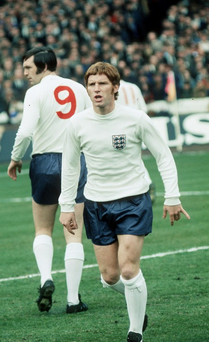 Alan Ball represented England 72 times, scoring eight goals, and was appointed captain of the national side in 1975. Image via Mirrorpix.