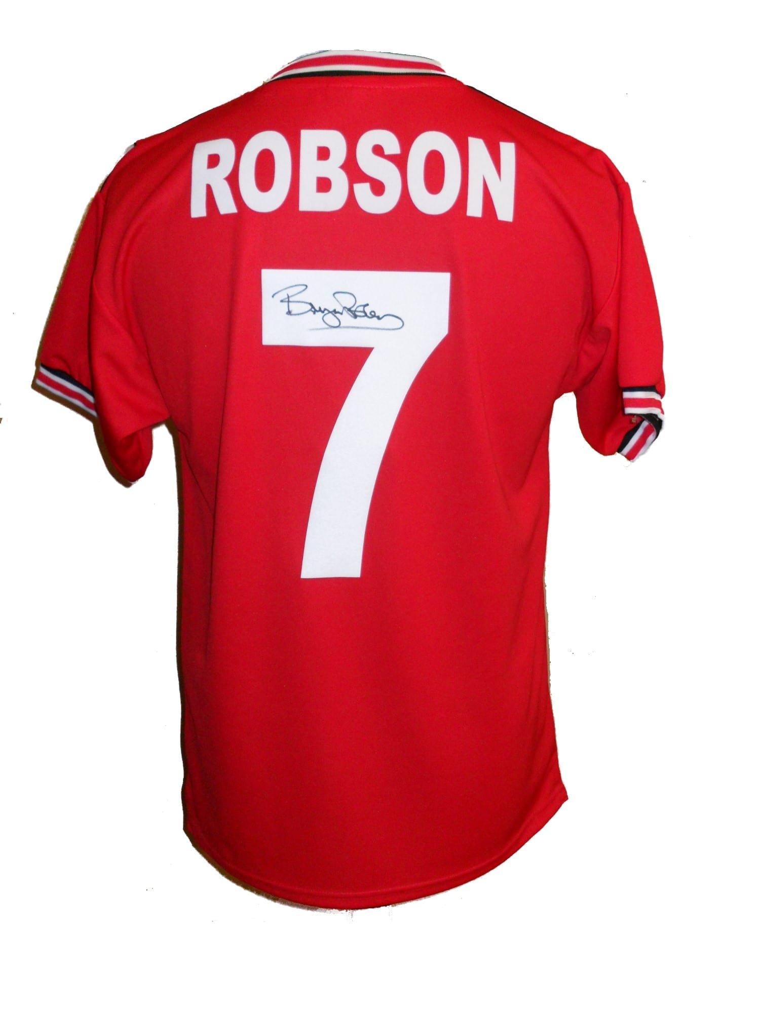 51e137082b8 Bryan Robson Signed Manchester United shirt - Unframed