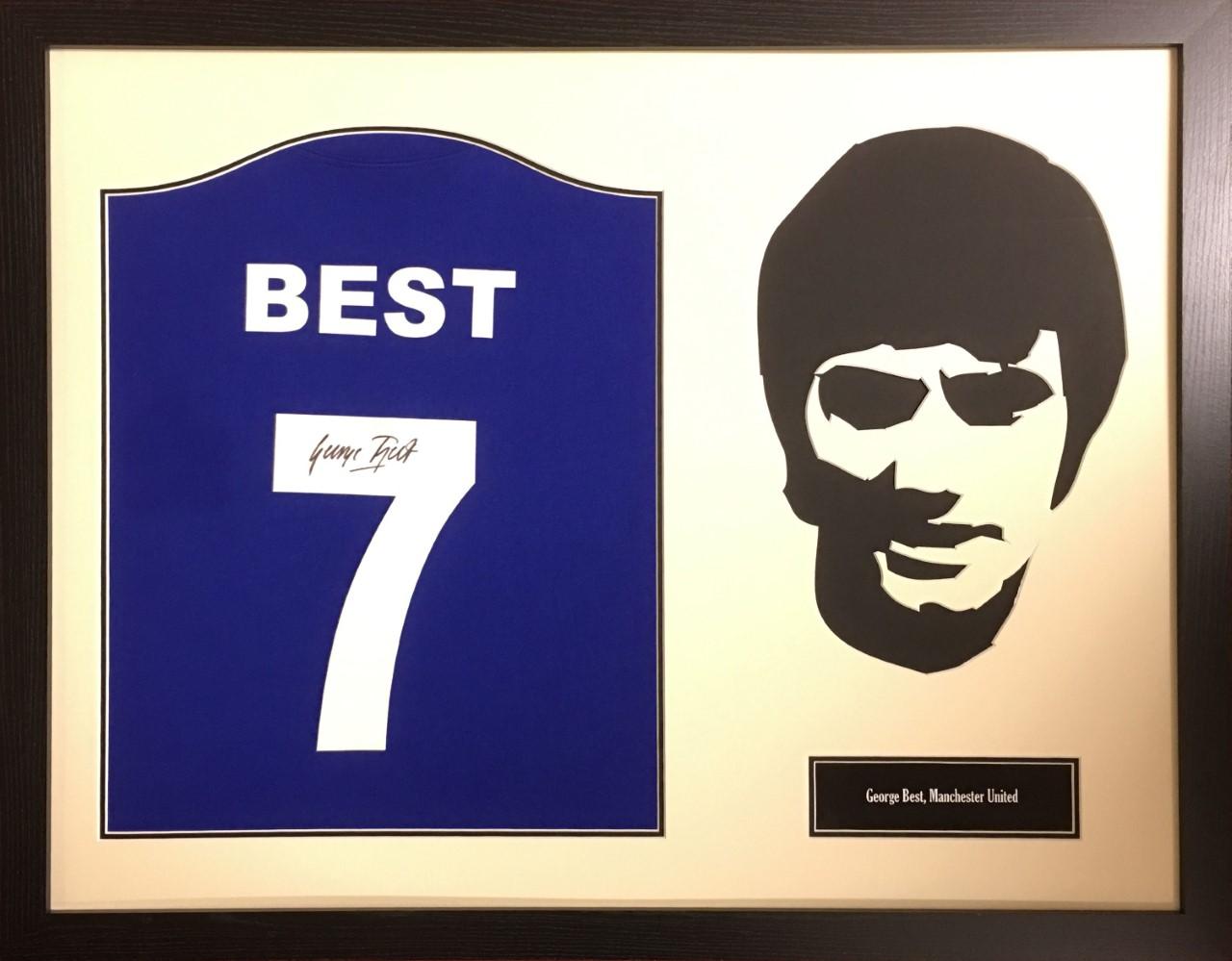 110ac1f03 George Best Signed Manchester United Shirt - Framed