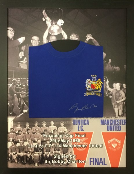 bobby charlton shirt printed mount