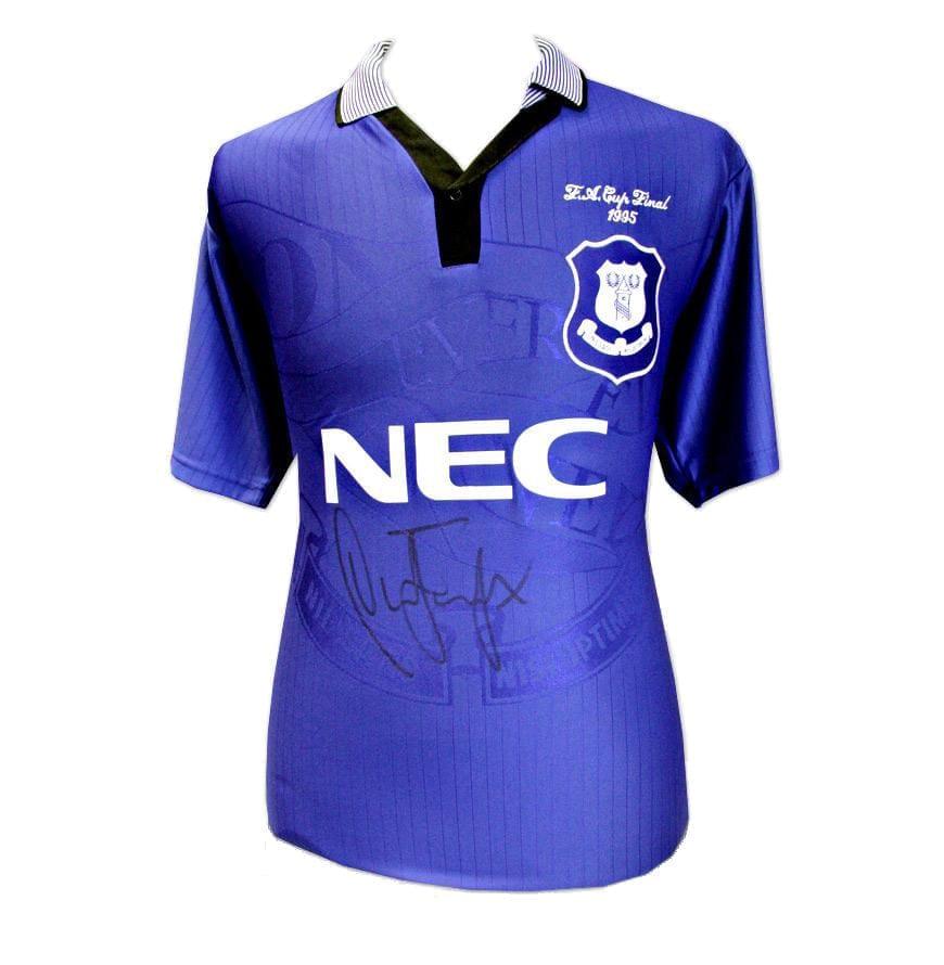 size 40 2f028 a8226 Duncan Ferguson Signed Everton 1995 Shirt – Unframed