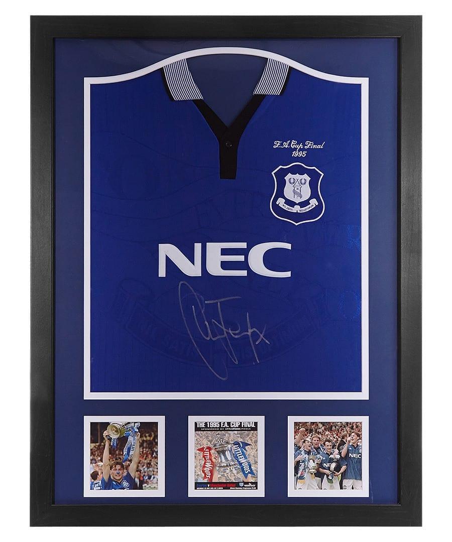 sneakers for cheap 570c5 b772f Duncan Ferguson Signed Everton 1995 Shirt – Framed