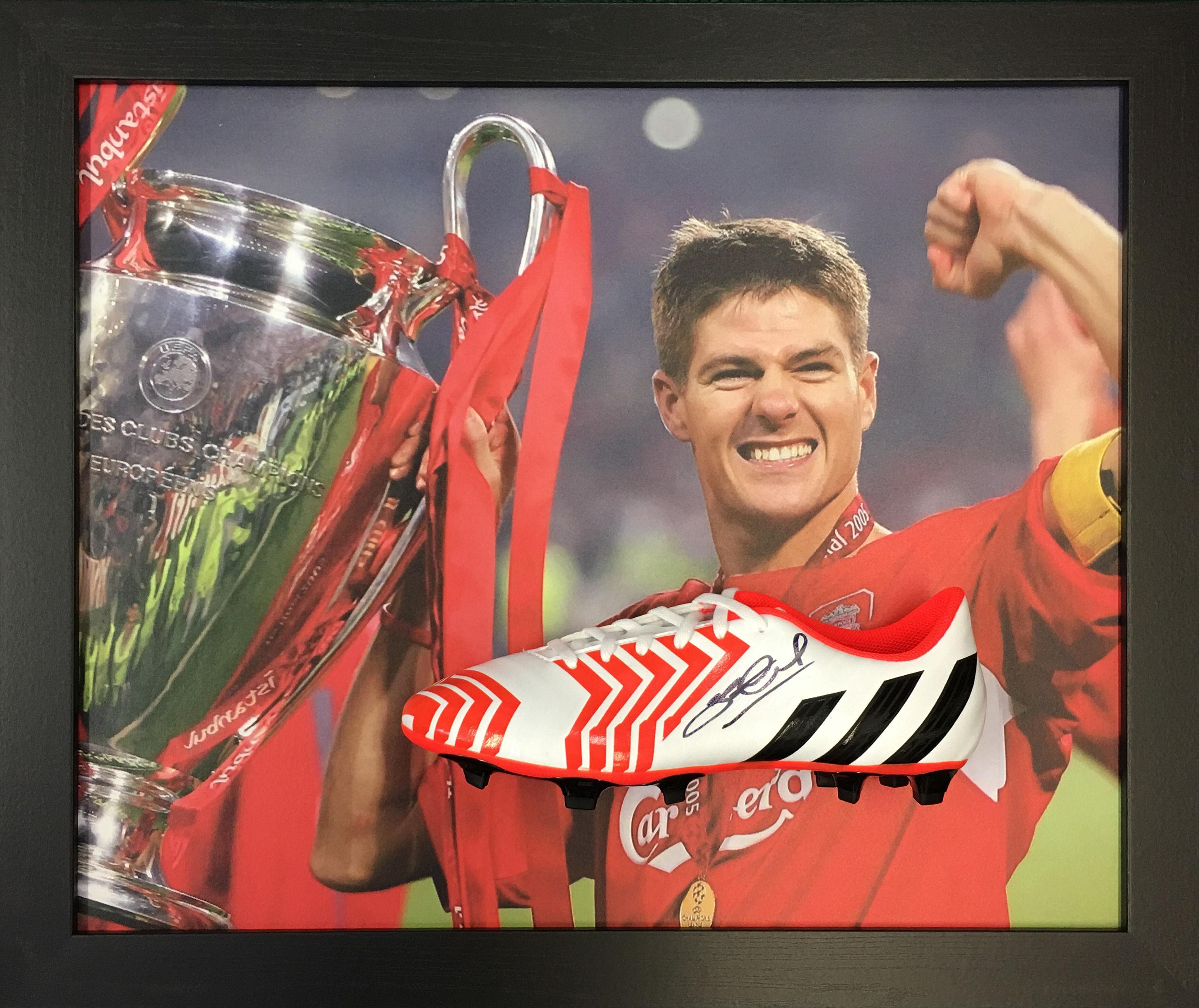 f3acd4ea4fe Steven Gerrard Signed Boot - Domed