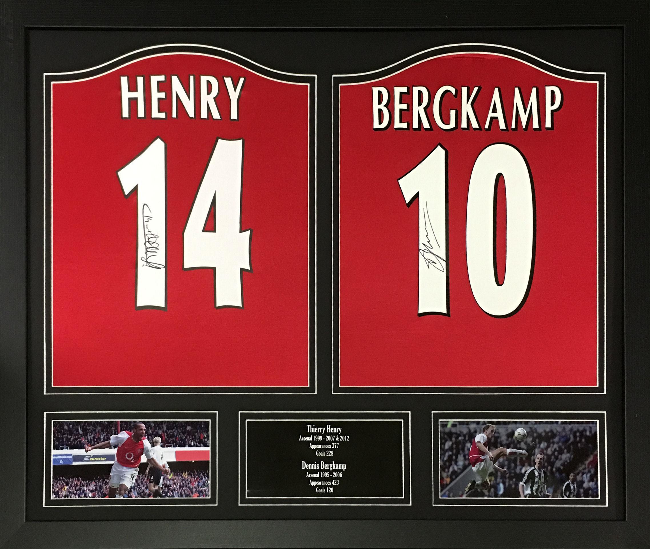 0f1f5e81b Dennis Bergkamp/Thierry Henry Signed Arsenal Shirts