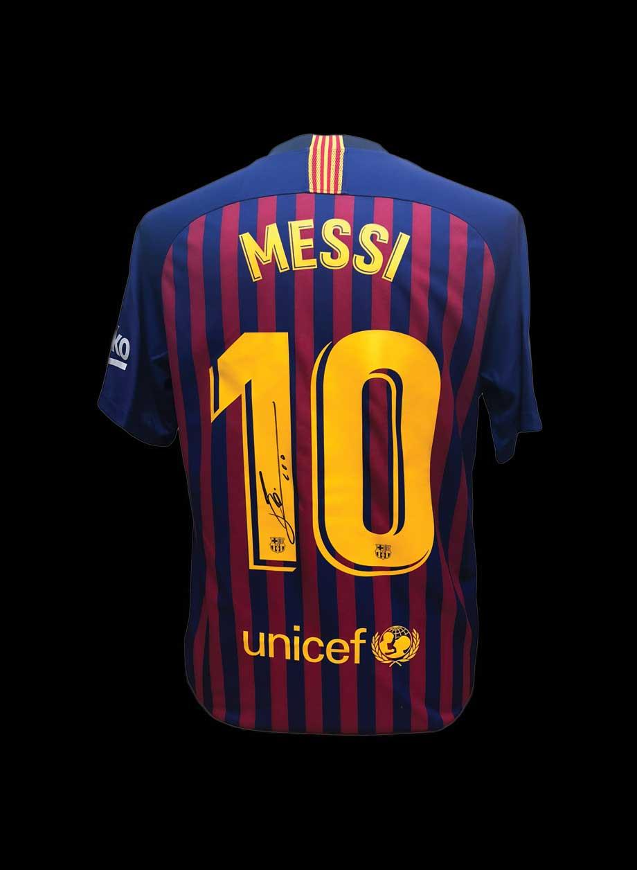 timeless design d16de 6f67a Lionel Messi Signed Shirt – Unframed
