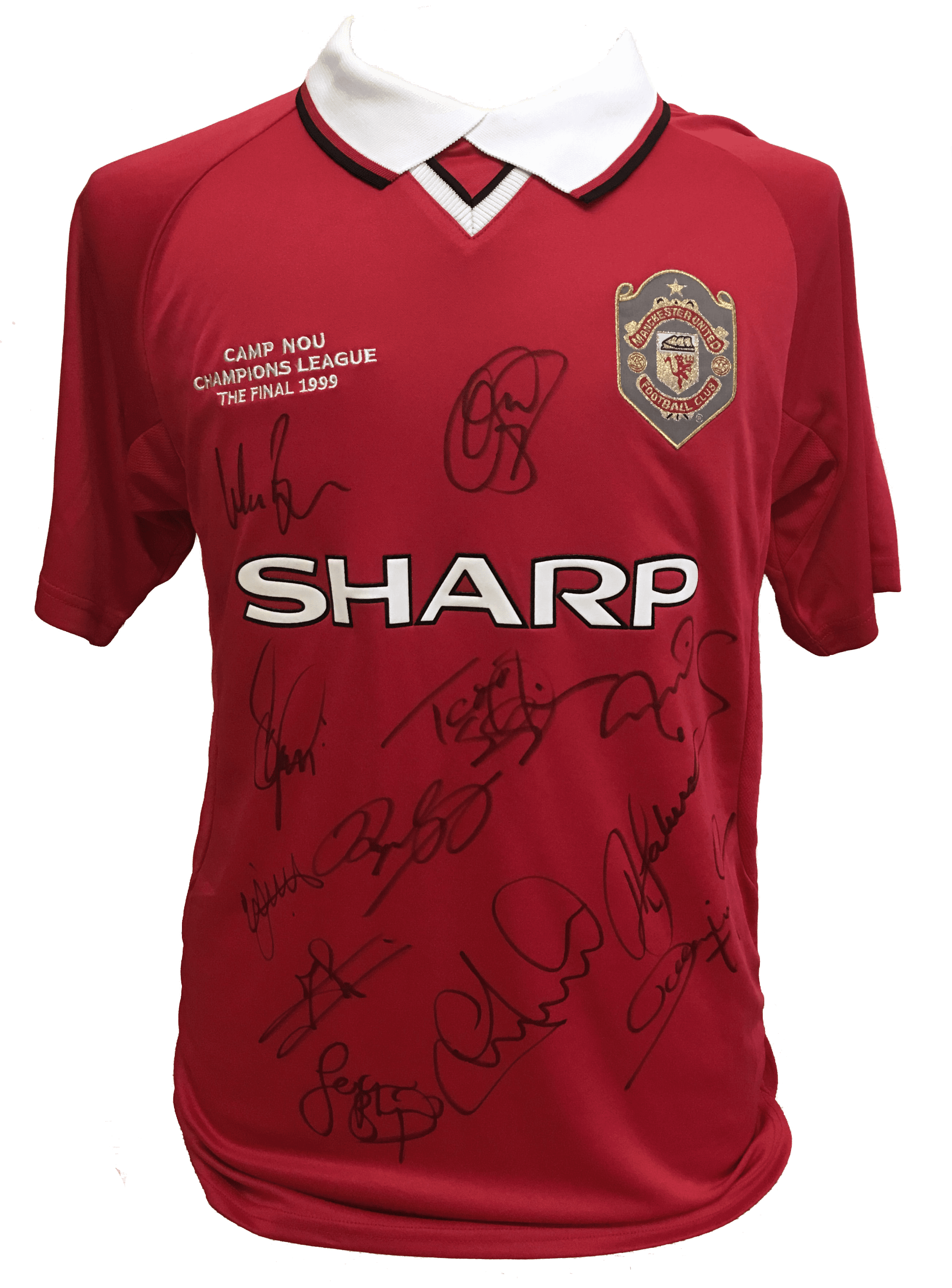 1999 Champions League Final Replica Shirt Signed By 12