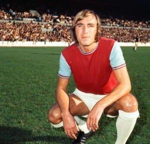West Ham United's Billy Bonds, pictured in 1965. (Image via Mirrorpix)