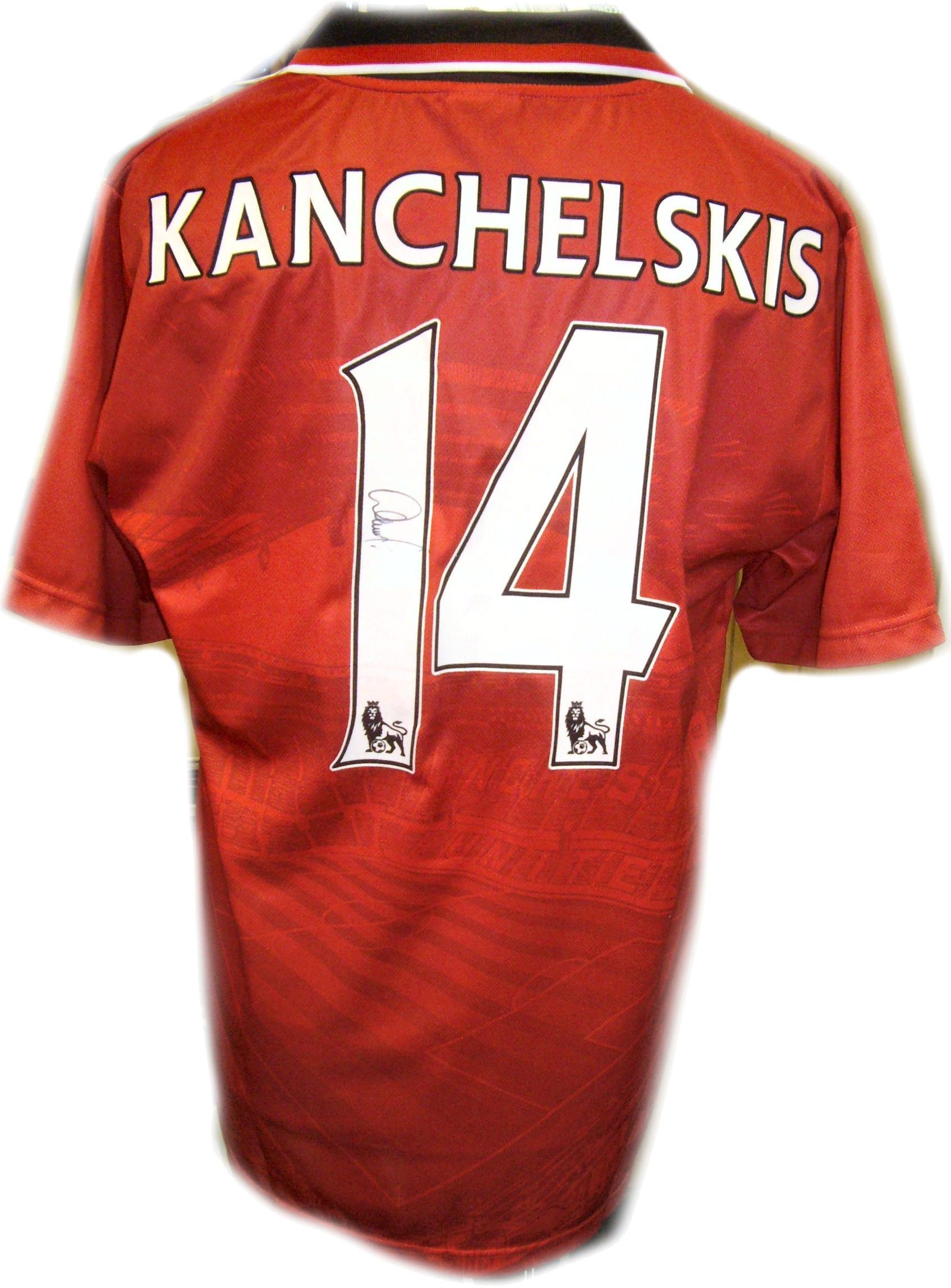 wholesale dealer 0637a e6260 Andrei Kanchelskis Signed Manchester United Replica Shirt