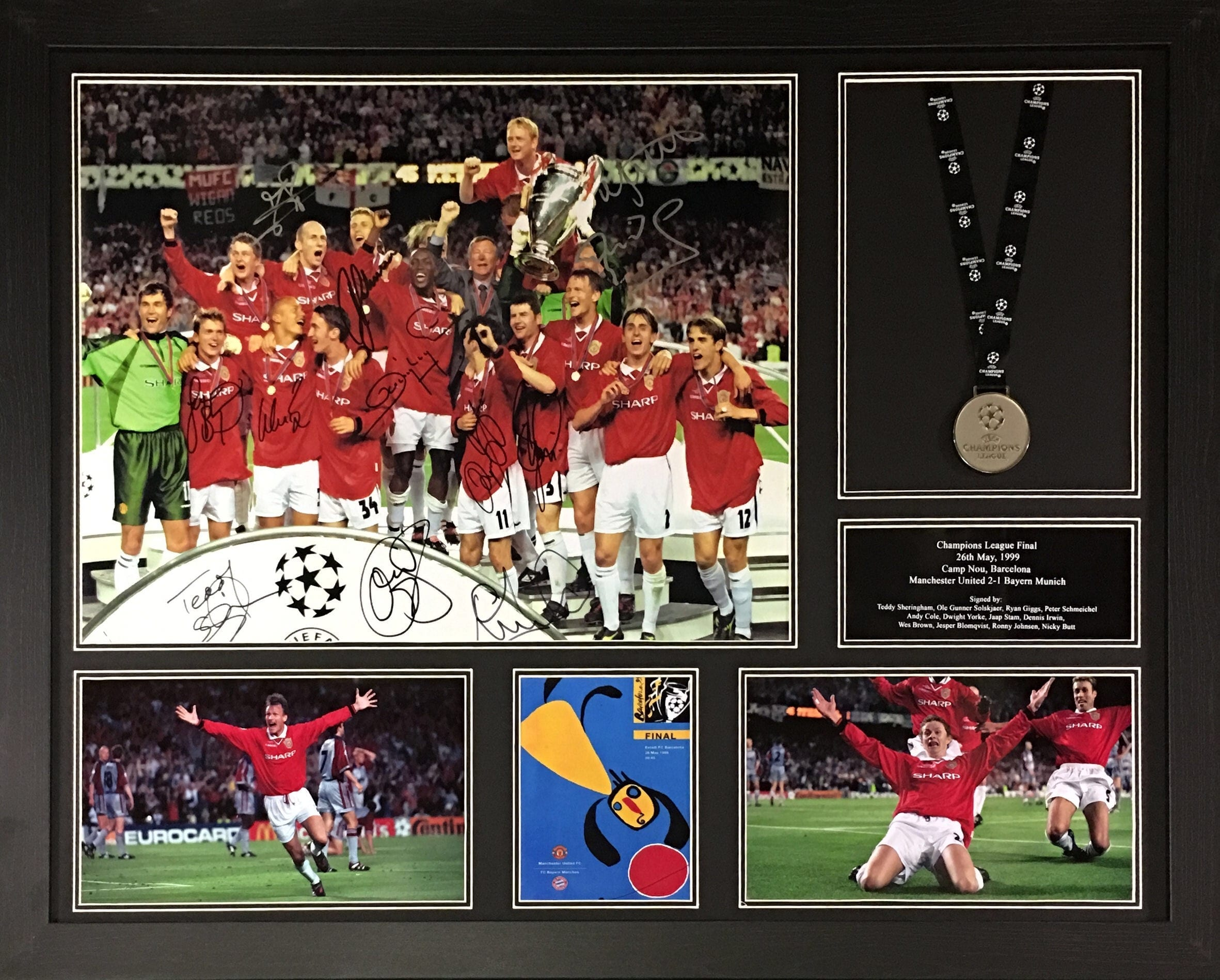 Multi signed champions league final photo with medal 984b61787
