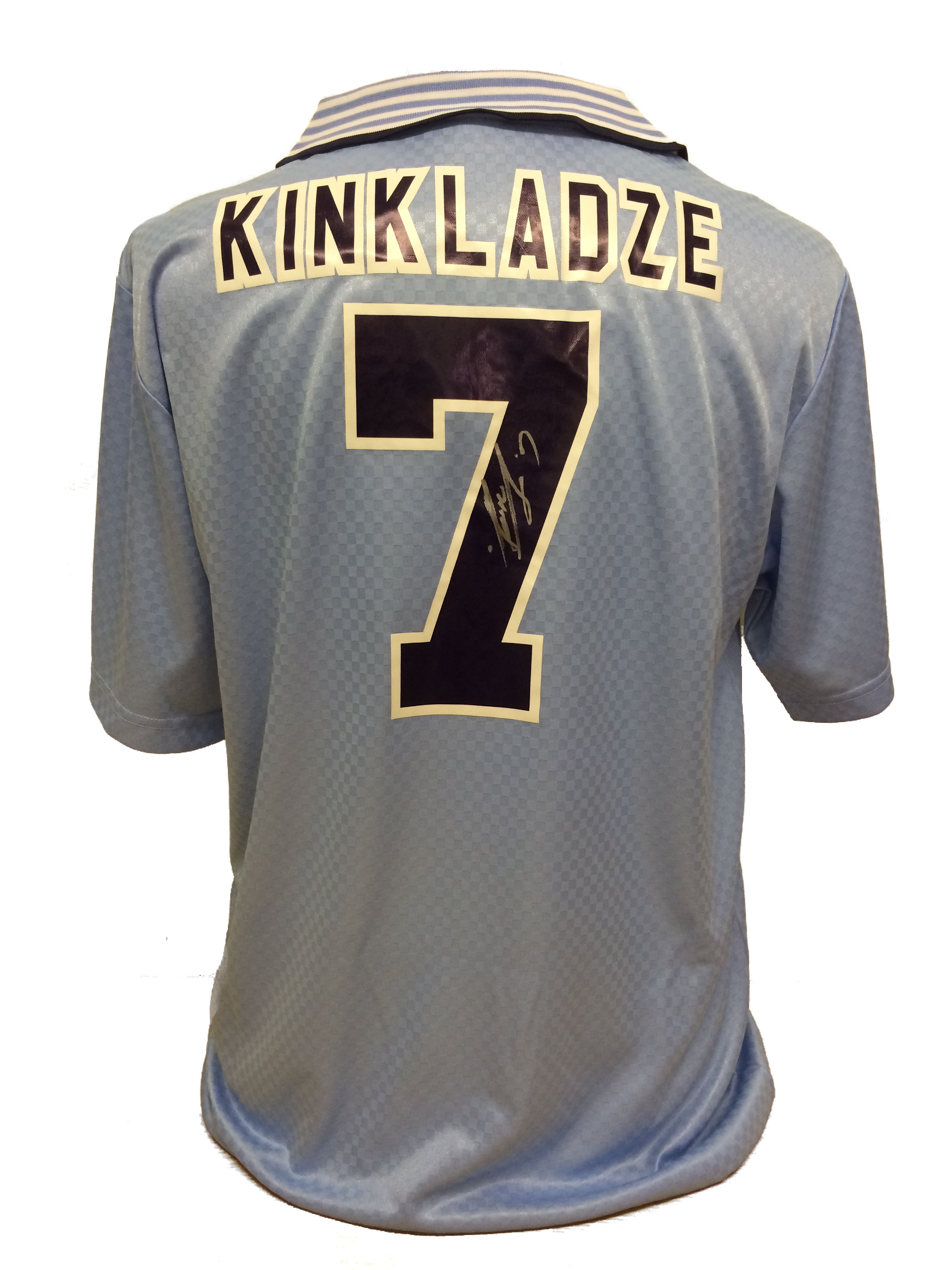finest selection 88ead 0b210 Manchester City replica shirt signed by Georgi Kinkladze