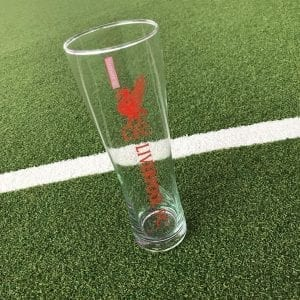Liverpool tall beer glass