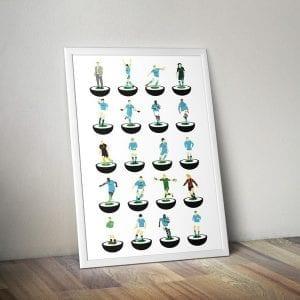 Manchester City Subbuteo Print – unframed