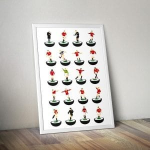 Manchester United Subbuteo Print – unframed