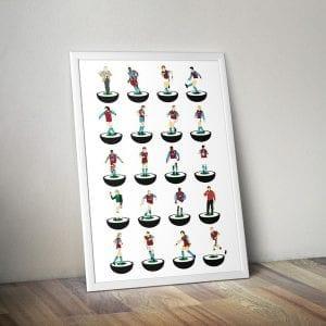 Aston Villa  Subbuteo Print – unframed