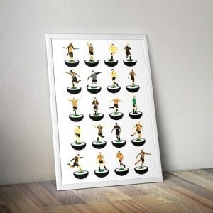 Hull City Subbuteo Print – unframed