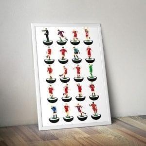 Bayern Munich Subbuteo Print – Unframed