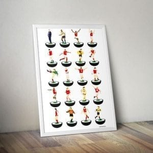 Arsenal Subbuteo Print – Unframed