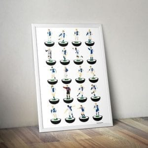 Blackburn Rovers Subbuteo Print – Unframed