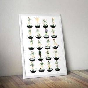 Celtic Subbuteo Print – Unframed