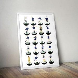 Everton Subbuteo Print – Unframed