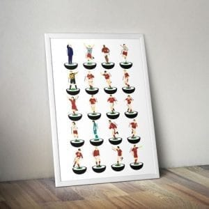 Heart of Midlothian Subbuteo Print – Unframed
