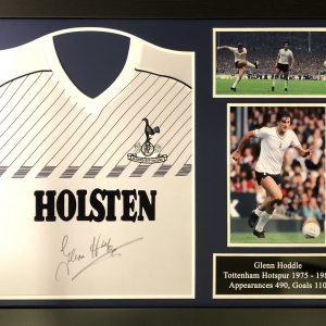 Glenn Hoddle Signed 1986 Spurs Shirt – Framed
