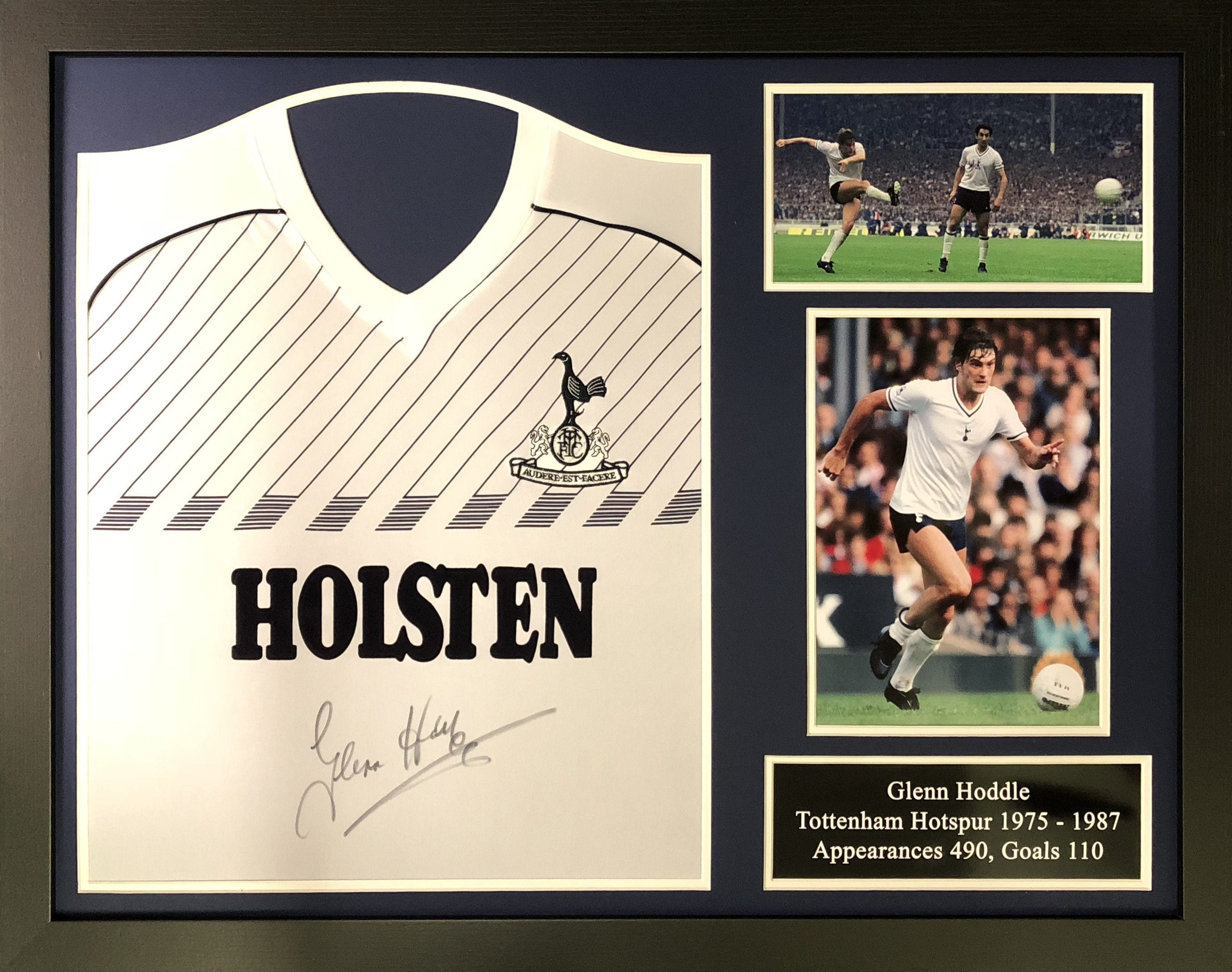 on sale 1dc9a abeac Glenn Hoddle Signed 1986 Spurs Shirt – Framed