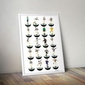 Juventus Subbuteo Print – Unframed