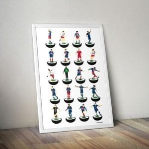 Paris Saint Germain Subbuteo Print – Unframed
