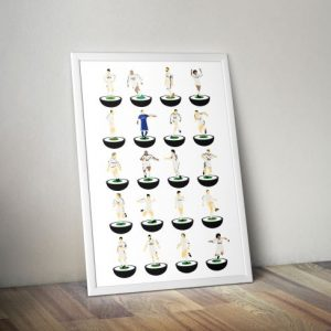 Real Madrid Subbuteo Print – Unframed