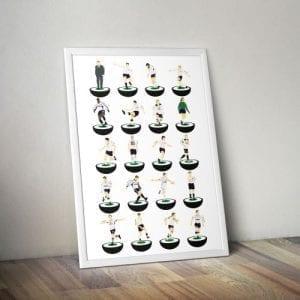 Tottenham Hotspur Subbuteo Print – Unframed