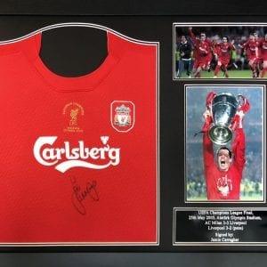 Jamie Carragher Signed 2005 Liverpool Shirt – Framed