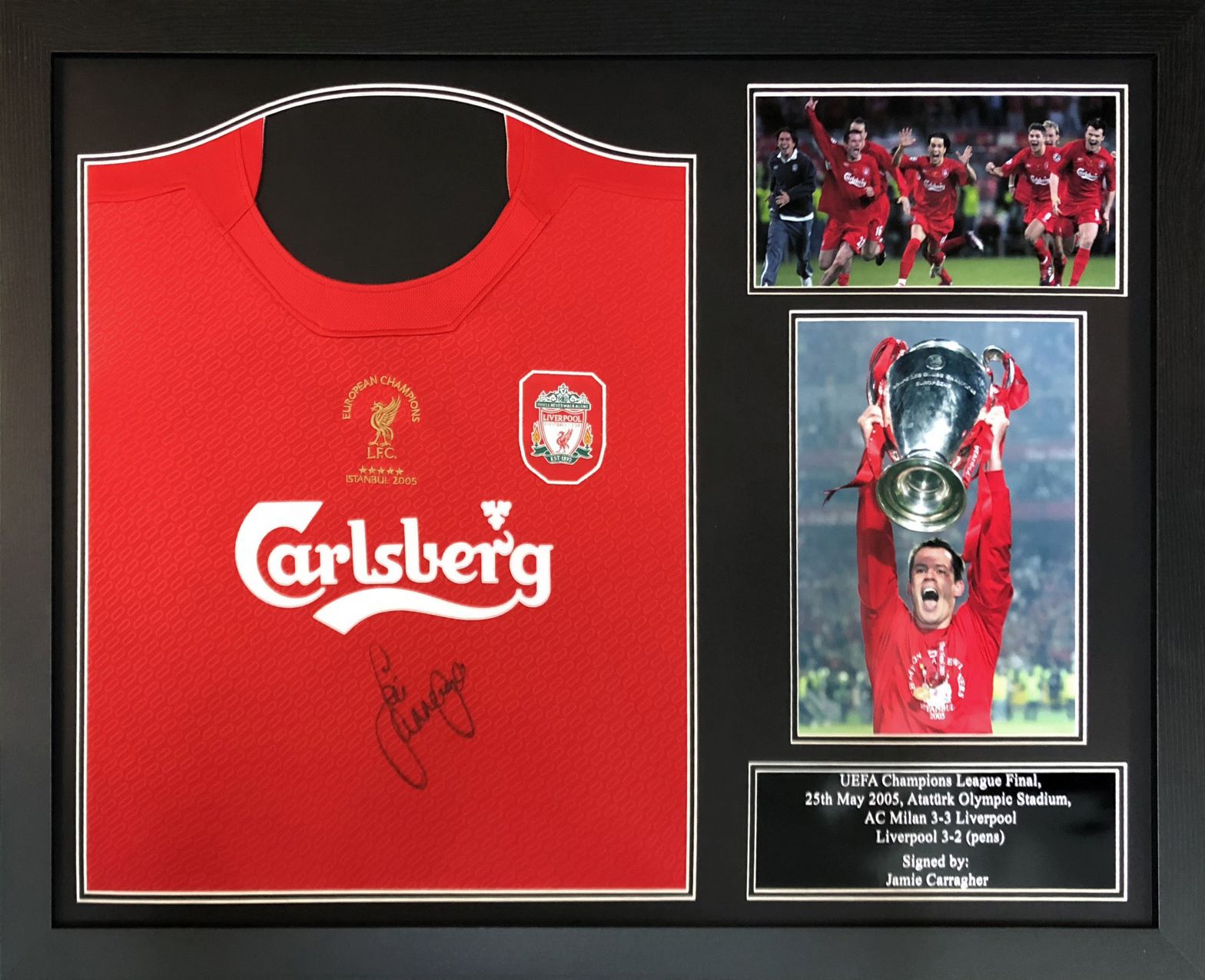 best sneakers 953f1 40412 Jamie Carragher Signed 2005 Liverpool Shirt – Framed