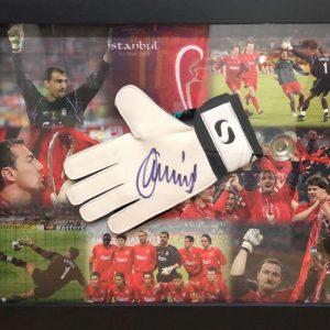 Jerzy Dudek Signed Glove – Framed