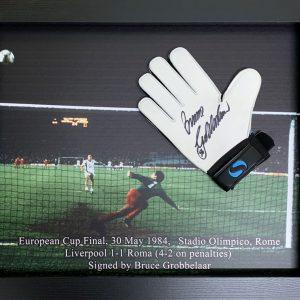 Bruce Grobbelaar Signed Glove – Framed