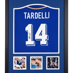 Marco Tardelli Signed Italy Shirt – Framed
