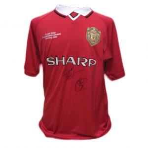 Sheringham & Solskjaer 1999 Signed Shirt