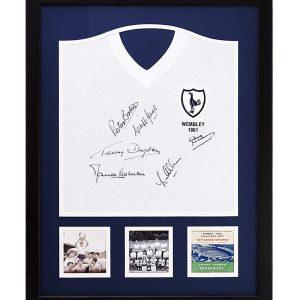 Tottenham Hotspur 1961 Signed Shirt – Framed